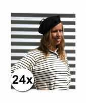 24x franse hoedjes volwassenen 59 cm trend