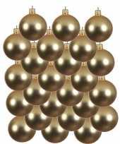 24x gouden glazen kerstballen 8 cm mat trend