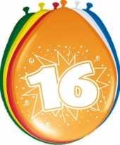 24x stuks ballonnen 16 jaar feestje trend