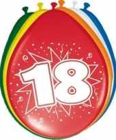 24x stuks ballonnen 18 jaar trend