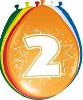 24x stuks ballonnen 2 jaar trend