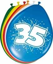 24x stuks ballonnen 35 jaar trend