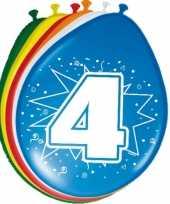 24x stuks ballonnen 4 jaar trend