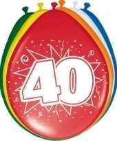 24x stuks ballonnen 40 jaar trend