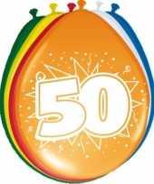 24x stuks ballonnen 50 jaar trend