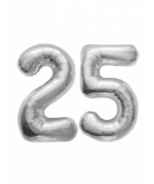 25 jaar jublileum ballonnen zilver trend