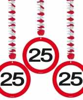 25 jaar versiering stopbord trend