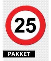 25 jarige verkeerbord decoratie pakket trend