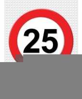 25 jarige verkeerbord decoratie pakket xl trend