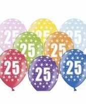 25e verjaardag ballonnen met sterretjes trend