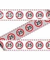 25e verjaardag markeerlint stopbord trend