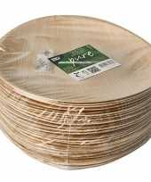 25x duurzame biologisch afbreekbare borden palmblad 25 cm trend