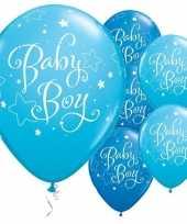 25x geboorte ballonnen jongen 28 cm trend