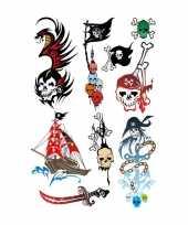 27x piraten thema plak tattoo stickers trend