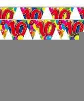 2x 10 jaar vlaggenlijn ballonnen trend