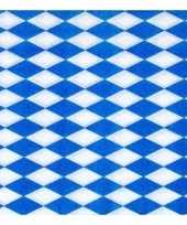 2x 100 servetten blauw met wit trend