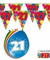 2x 21 jaar vlaggenlijn ballonnen trend