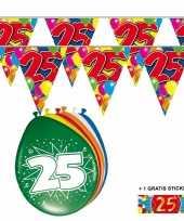 2x 25 jaar vlaggenlijn ballonnen trend
