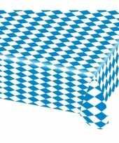 2x blauw met wit tafelkleden van 80x260 cm trend