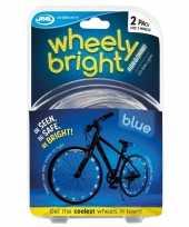 2x blauwe fietsverlichting spaakverlichting led lichtslangen trend