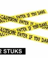 2x caution decoratielint geel 6 meter trend
