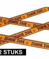 2x caution decoratielint oranje 6 meter trend
