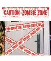 2x caution zombie zone afzetlinten markeerlinten 6 meter trend