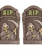 2x decoratie halloween grafstenen magere hein 60 cm trend