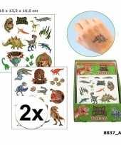 2x dinosaurus plak tattoos voor jongens dino world trend