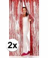 2x disco folie deurgordijnen rood trend