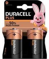 2x duracell d plus batterijen alkaline lr20 mn1300 1 5 v trend