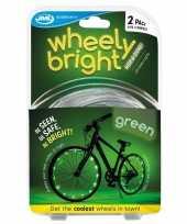 2x groene fietsverlichting spaakverlichting led lichtslangen trend