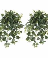 2x groene hedera helix klimop kunstplanten 65 cm voor buiten trend