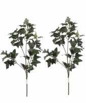 2x groene hedera klimop kunsttakken kunstplanten 55 cm trend