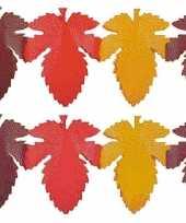2x herfstbladen decoratie slinger trend