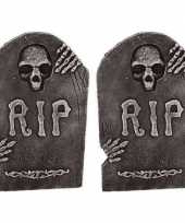 2x horror decoratie grafstenen rip 50 cm trend