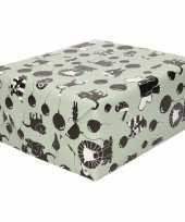 2x inpakpapier cadeaupapier happy animals 200 x 70 cm trend