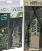 2x insecten deur horren horgordijnen antraciet 75 x 220 cm trend