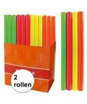2x kaftpapier folie schoolboeken neon roze 3 meter trend
