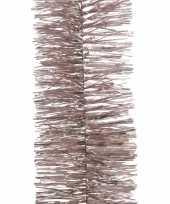 2x kerstboom folie slinger roze 270 cm trend