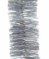2x kerstboom glitter folie slinger zilver 270 cm trend
