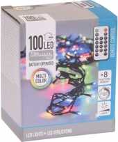 2x kerstverlichting afstandsbediening gekleurd buiten 100 lampjes trend