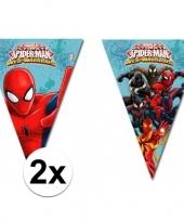 2x kinderfeestje spiderman warrior vlaggetjeslijnen trend