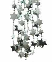 2x mintgroene kerstversiering ster kralenslinger 270 cm trend