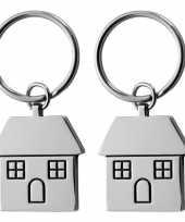 2x nieuw huis sleutelhanger trend