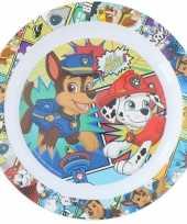 2x stuks nickelodeon paw patrol ontbijtbordjes 22 cm voor kinderen trend