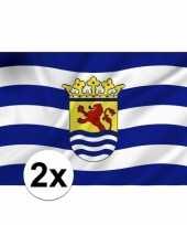 2x stuks provincie zeeland vlaggen trend