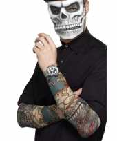2x tattoo sleeves day of the dead voor volwassenen trend