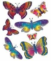 2x vellen met kinder raamstickers vlinders trend