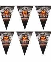 2x vlaggenlijn slinger pompoen 250 cm halloween decoratie trend